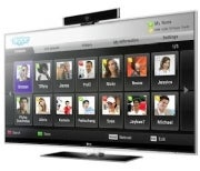 HDTV with Skype services