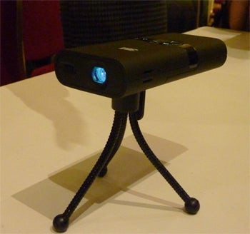 dc3ec40910faee 3M this week here at the Consumer Electronics Show in Las Vegas is showing  the 3M MPro150 - a portable projector that it says will remove the need for  ...