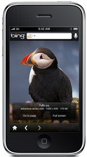 Microsoft Bing on Apple's iPhone