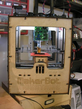 MakerBot CupCake DIY 3D printer kit.