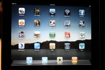 Apple iPad interface