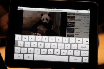 Apple iPad touch keyboard