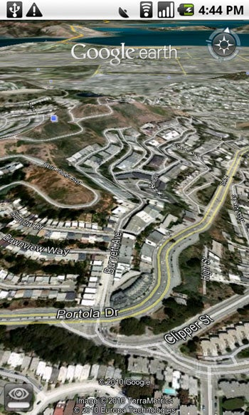 Google Earth for Android: Roads