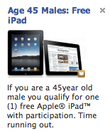 Facebook Says 'Free iPad' Ads Are Prohibited