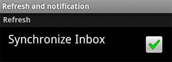 Google Voice Android: Synchronize Inbox