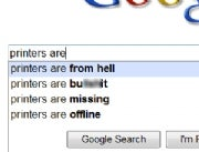 Printer search suggestions on Google