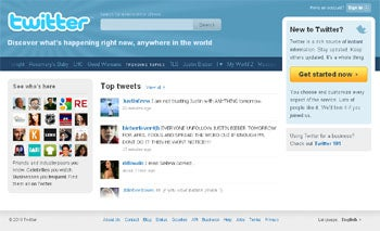 Twitter New Home Page