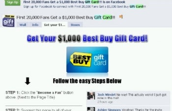 Facebook takes steps to deal with gift card scams pcworld a facebook fan page that poppped up recently offering 1000 best buy gift cards it was a scam part of a growing problem that facebook is now trying to negle Choice Image