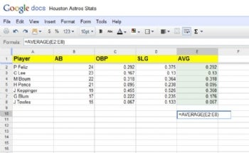 Google's spreadsheet tool isn't as robust as Excel.