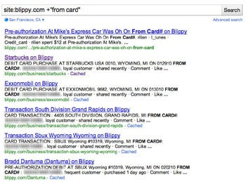 Blippy Google Search