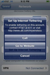 Leaked images suggest that iPhone OS 4.0 will include tethering.