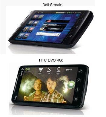 Dell Streak Tablet Comparison