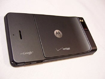 The back of the Droid X