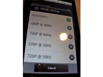 Droid X's HDMI Choices