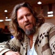 "Jeff Bridges as ""The Dude"""