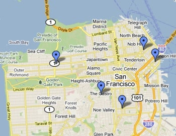 SF testing locations