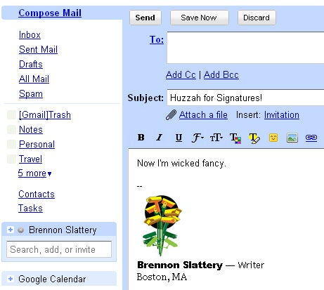 how to create html email signature in gmail
