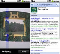 Droid X Apps: Google Goggles
