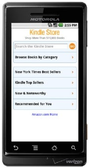 Kindle for Android store
