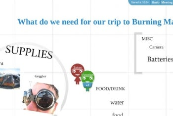 With Prezi Meeting, people can get on the same page to brainstorm, or plan a trip.