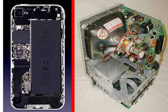 Inside the iPhone and the original Mac