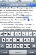 Quickoffice Connect brings full-featured document editing to the iPhone.