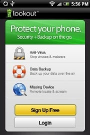 Lookout Mobile Security Android security app
