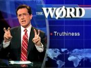 "Steven Colbert of Comedy Central and his word ""truthiness."""
