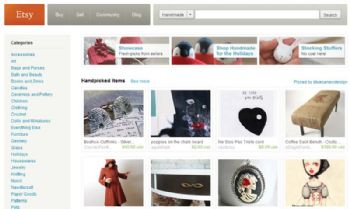 Sellers on Etsy specialize in handmade and vintage items.
