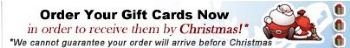 Gift card advertisement