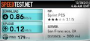 Sprint hotspot speed test