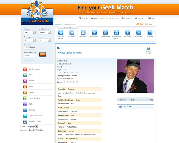 canadian geek dating sites Thanks to a crop of niche dating websites, you can find your ideal mate based on very specific criteria the online dating industry is a $21 billion business, with niche dating sites claiming more and more of that market share we talked to the men and women behind niche dating websites to find out.