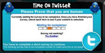 Beware the Twitter scam.
