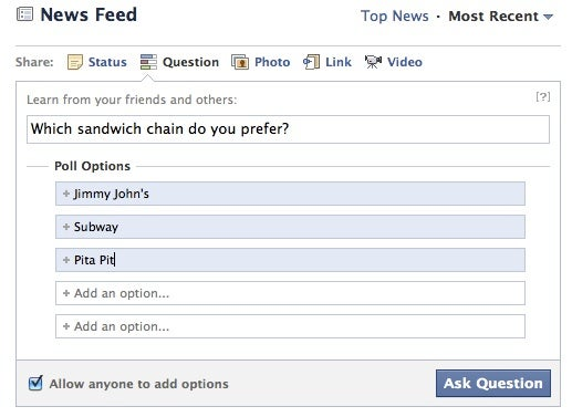 Facebook Questions: Hands On | PCWorld