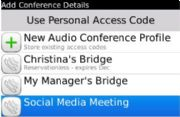 The Add Conference Details window affords many controls from a single screen.