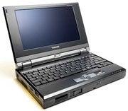 The Toshiba Libretto mini-notebook.