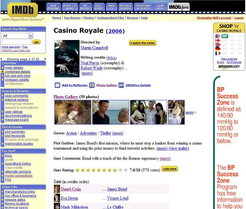 internet movie review database