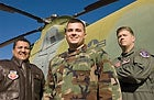 Captain Ronnie Young (center), Master Sergeant Frank Bernal (left), and Major Kyle Cowherd