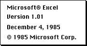 Microsoft Excel (1985)