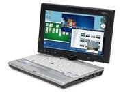 Fujitsu's LifeBook P1620 laptop; we used this model as a test unit in four different configurations.