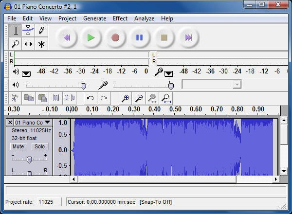 how to get words out of white noise in audacity
