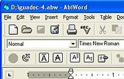 AbiWord word processing software; click to view full-size image.