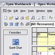 Open Workbench project management software; click to view full-size image.