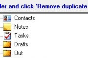 Outlook Duplicate Items Remover; click to view full-size image.