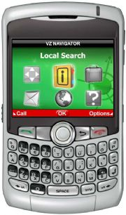 Local search on VZ Navigator