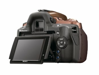 Sony Alpha DSLR-A330 tilting screen