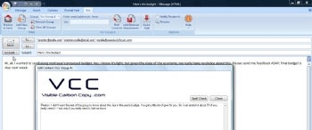 Visible Carbon Copy (VCC) screenshot