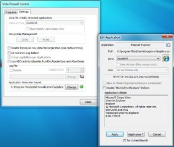 Windows 7 Firewall Control Free screenshot