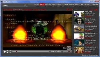 DeskTube screenshot