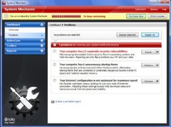 System Mechanic 9 screenshot